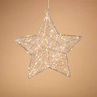 Holiday 16 in. Lighted Silver Wire Star, , rollover