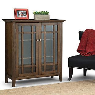 "Simpli Home Bedford 39"" Rustic Storage Cabinet, Brown, rollover"