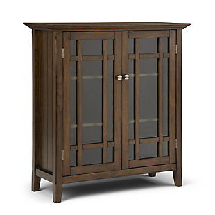 """Simpli Home Bedford 39"""" Rustic Storage Cabinet, Brown, large"""