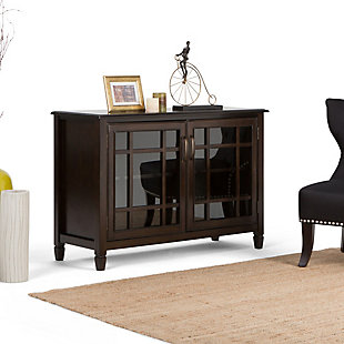 """Simpli Home Connaught 46"""" Traditional Storage Cabinet, Brown, rollover"""