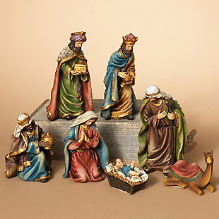 Holiday 7-Piece Set Resin Nativity Figurines, , rollover