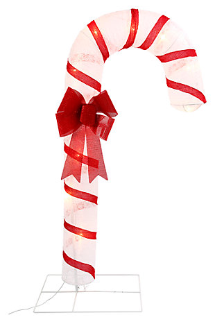 Holiday 72-Inch Lighted Candy Cane Figurine, , large