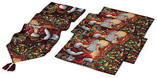 Holiday 5-piece Set Christmas Table Place Settings with Santa Design, , rollover