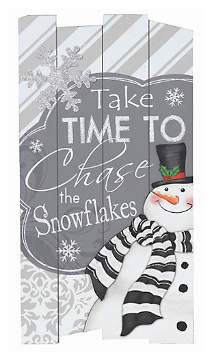 Holiday Wooden Holiday Wall Hanging with Seasonal Message, , large