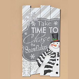 Holiday Wooden Holiday Wall Hanging with Seasonal Message, , rollover