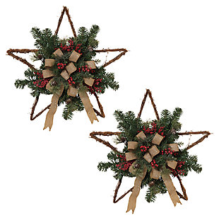 Holiday Twig Holiday Star Wall Hangings (Set of 2), , large