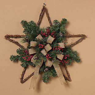 Holiday Twig Holiday Star Wall Hangings (Set of 2), , rollover
