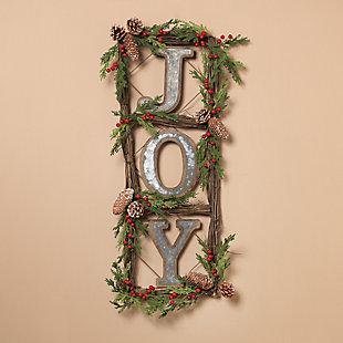 "Holiday Natural Twig ""JOY"" Door Wreaths (Set of 2), , rollover"