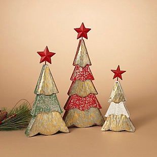 Holiday Wood and Metal Holiday Trees (Set of 3), , rollover