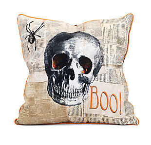 Halloween Apothescary Skull Pillow, , rollover