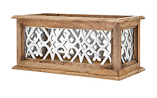 Fall Aluminum and Wood Lantern, , large