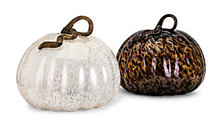 Fall Extra Large Glass Pumpkin (Set of 2), , rollover