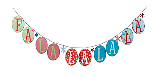 Holiday Whimsical Christmas Fa La La La Banner, , large