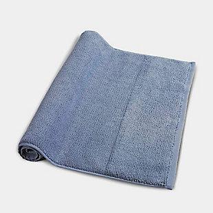 Rice Effect  Turkish Aegean Cotton Bathmath Towel Pack of 2 (Steel Blue), , rollover