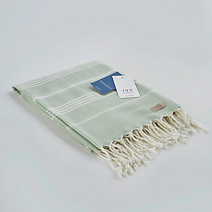 Ivy Olympia  Jacquard Yarn Dyed Beach Towel Mint, , large