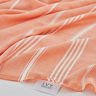 Ivy Olympia  Jacquard Yarn Dyed Beach Towel Terra, , rollover