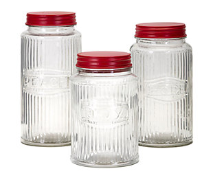 Holiday Homestead Christmas Glass Jars, , large