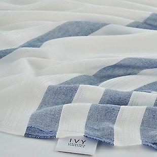 Salem Kavak  Fringe Turkish Cotton Towel Royal Blue, , rollover