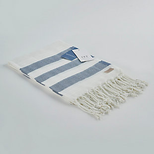 Salem Kavak  Fringe Turkish Cotton Towel Royal Blue, , large