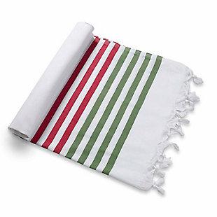 Ocean Beach Towel Red Green, , large