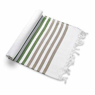 Ocean  Beach Towel Brown Green, , large