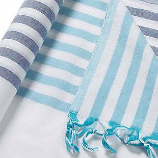 Handloom  Beach Towel Sky Blue, , rollover