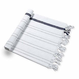 Handloom  Beach Towel Navy, , large