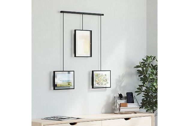 Umbra Exhibit Black Photo Display, Black, large