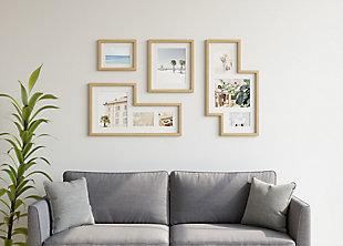 Umbra Mingle Natural Wood Photo Gallery Display (Set of 4), Natural, large