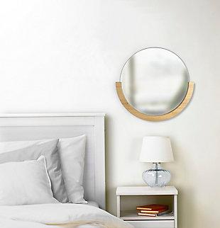 "Umbra Mira 20"" Natural Wood Mirror, , rollover"