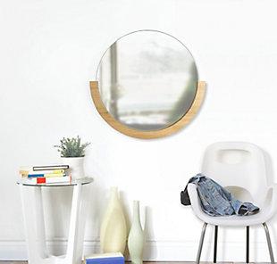 "Umbra Mira 30"" Natural Wood Mirror, , rollover"