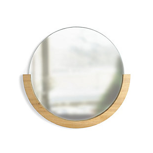 """Umbra Mira 30"""" Natural Wood Mirror, , large"""