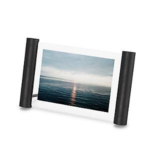 Umbra Scroll Black 4 x 6 Floating Picture Frame, Black, large
