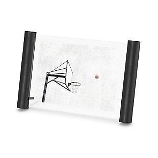 Umbra Scroll Black 5 x 7 Floating Picture Frame, Black, large