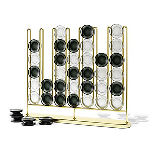 Umbra Stax Four-in-a-Row Game in Brass, , large