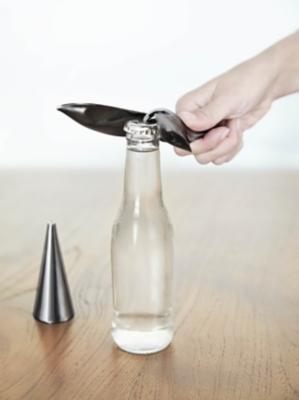 Umbra Tipsy Titanium Bottle Opener, Titanium, large