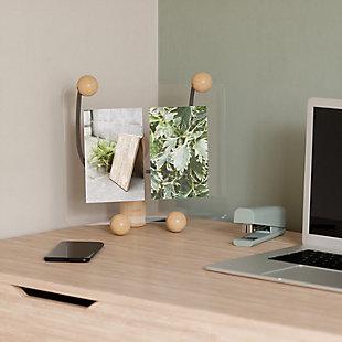 Umbra Woody Natural Large Desk Floating Picture Frame, Natural, rollover
