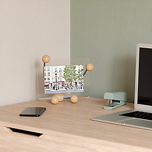 Umbra Woody Natural Small Desk Floating Picture Frame, Natural, rollover