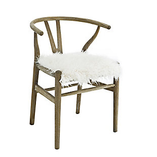 Benzara Accent Chair with Curved Backrest, , large