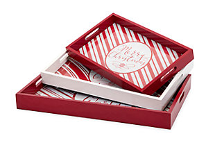 Holiday Christmas Candy Strip Trays, , large