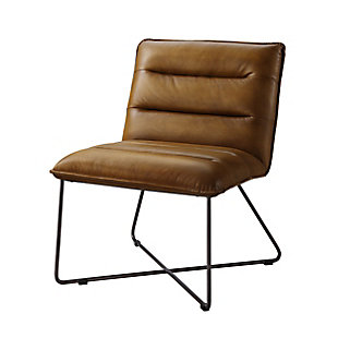 Benzara Accent Chair with Sled Base, , large