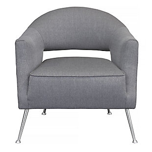 Benzara Accent Chair with Angled  Legs, , large