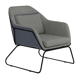 Benzara Accent Chair with Angled Sled Base, , large