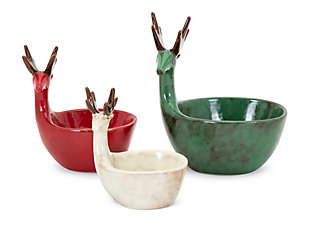 Holiday Homestead Christmas Reindeer Dishes, , large