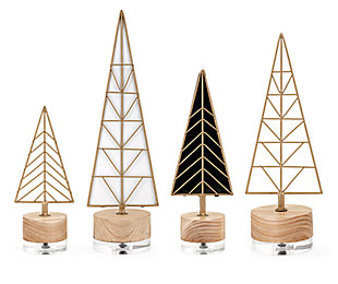 Holiday Deco Christmas Trees (Set of 4), , rollover