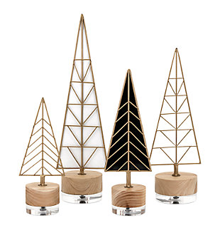 Holiday Deco Christmas Trees (Set of 4), , large