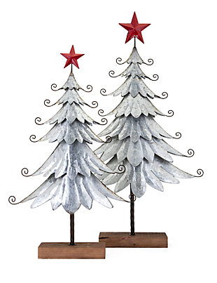 Holiday Homestead Christmas Galvanized Trees, , large