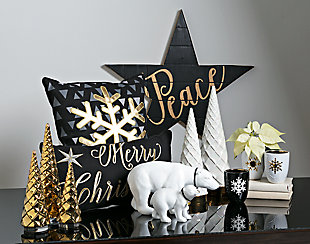 Holiday Snow Crystal Pillow, , rollover