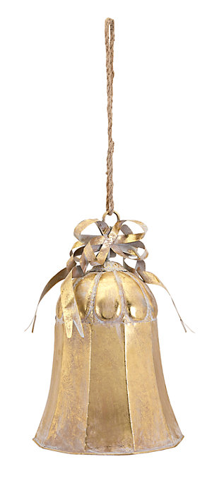 Holiday Christmas Large Gold Bell, , rollover