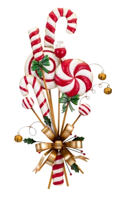 Ashley Holiday Christmas Candy Can Door Hanger, Gold